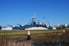 USS北卡罗来纳战舰 库存图片