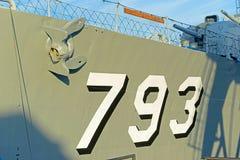 USS卡辛年轻DD-793在波士顿,马萨诸塞,美国 图库摄影