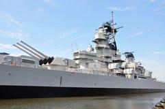 USS威斯康辛战舰,诺福克 库存照片