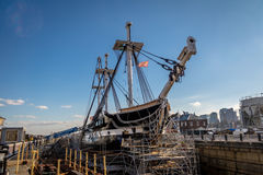USS宪法-波士顿,马萨诸塞,美国 图库摄影