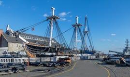 USS宪法-波士顿,马萨诸塞,美国 免版税库存图片