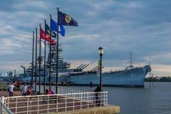 USS新泽西 免版税库存图片