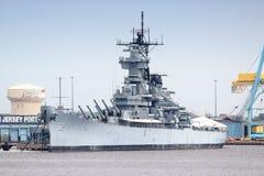 USS新泽西 库存图片