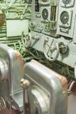 USS短路线圈测试仪水下中央屋子和Attac的内部 免版税库存照片