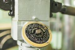 USS短路线圈测试仪水下中央屋子的内部 免版税库存照片