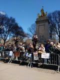 USS缅因国家历史文物,中央公园,哥伦布圈子,我们的生活抗议的NY 3月, NYC,美国 图库摄影