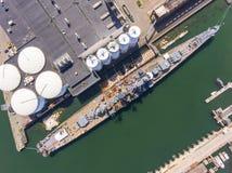 USS萨利姆CA-139重的巡洋舰,昆西,MA,美国 图库摄影