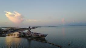USS Λέξινγκτον, Corpus Christi, εικόνα κηφήνων TX Στοκ Φωτογραφίες