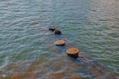 uss Аризоны погруженные в воду частью Стоковая Фотография RF