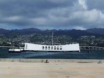 USS Aizona Memorial, Oahu, Hawaii Royalty Free Stock Photo