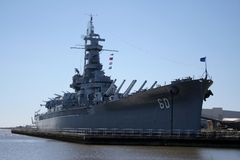 USS Alabama Images libres de droits