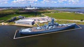 USS Alabama foto de archivo libre de regalías
