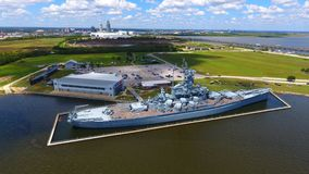 USS Alabama stock foto
