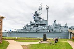 USS Alabama pancernik przy Memorial Park w Mobilnym Alabama usa Obrazy Royalty Free