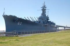 USS Alabama pancernika muzeum obrazy stock