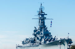 USS Alabama. The US Alabama is a World War II battleship and is currently a museum ship near Mobile, Alabama Royalty Free Stock Images