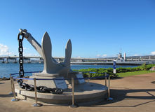 USS Arizona Anchor - USS Bowfin Stock Photo