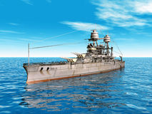USS Arizona. Computer generated 3D illustration with the American Battleship USS Arizona royalty free illustration