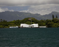 USS Arizona Denkmal Stockbilder