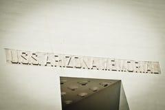 USS Arizona Memorial. At the Pearl Harbor Museum in Oahu, Hawaii Stock Image