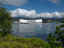 USS Arizona Memorial - Backside View Stock Photo