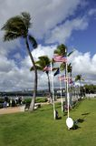 USS Arizona Memorial Center Flag display area Royalty Free Stock Images