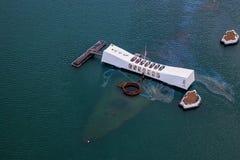 USS Arizona Memorial In Pearl Harbor Honolulu Hawaii Royalty Free Stock Image