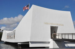 USS Arizona Memorial at Pearl Harbor in Oahu, Hawaii Stock Photos