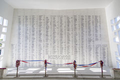 USS Arizona Memorial Wall Stock Photography
