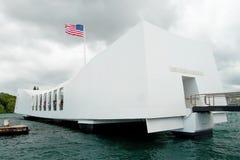 USS Arizona minnesmärke i pärlemorfärg hamn i Honolulu Hawaii Arkivbild
