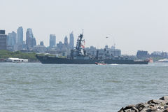 USS Bainbridge на неделе флота стоковое фото