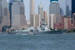 USS Bainbridge en la semana de la flota Imágenes de archivo libres de regalías