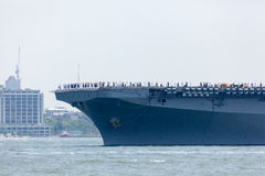 USS Bataan on the Hudson River Royalty Free Stock Photos