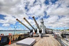 USS Battleship Missouri Memorial Stock Photo