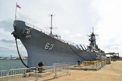 USS blu marino di Missouri, Stati Uniti   fotografie stock libere da diritti