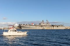 USS Bonhomme Richard LHD-6 klasy napaść wodno-lądowa statek Stany Zjednoczone marynarka wojenna Obraz Stock