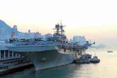 USS Bonhomme Richard visits Hong Kong Royalty Free Stock Photography