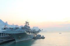 USS Bonhomme Richard wizyty Hong Kong Fotografia Royalty Free