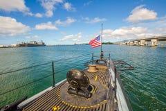 USS Bowfin潜水艇旗子 免版税库存图片