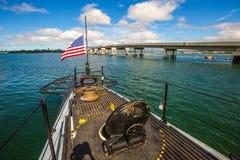 USS Bowfin潜水艇船首 免版税库存图片
