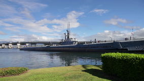 USS Bowfin SS-287 Submarine. The USS Bowfin Submarine SS-287. Pearl Harbor historic landmark, National historic and patriotic landmark memorial of the Japanese stock video footage
