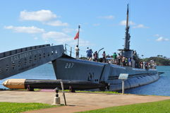 USS Bowfin Submarine in Honolulu, Hawaii Stock Photos