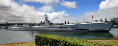 USS Bowfin Submarine Royalty Free Stock Images