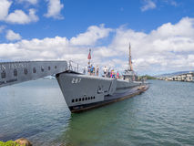 USS Bowfin submarine in Pearl Harbor Royalty Free Stock Photo