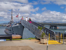 USS Bowfin submarine in Pearl Harbor Royalty Free Stock Photos