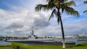 USS Bowfin ubåtmuseum som anslutas för utställning Royaltyfri Bild