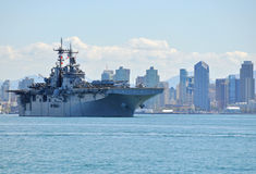 The USS Boxer (LHD 4) Deploys Royalty Free Stock Image