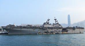 USS Boxer(LHD-4) visit Hong Kong Stock Photos