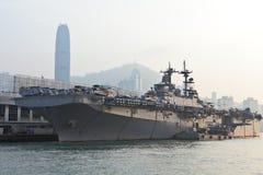 USS Boxer(LHD-4) visit Hong Kong Royalty Free Stock Photos