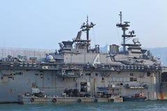 USS Boxer(LHD-4) visit Hong Kong Royalty Free Stock Photography